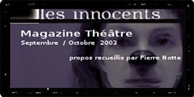 Magazine Théâtre | Pierre Notte | Et maintenant ?