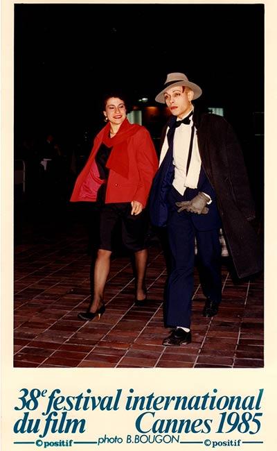 De quoi attiser la haine de l'enfance persistante | Rania Stephan et David Noir en festivaliers cannois | Photo © B. Bougon | 1985