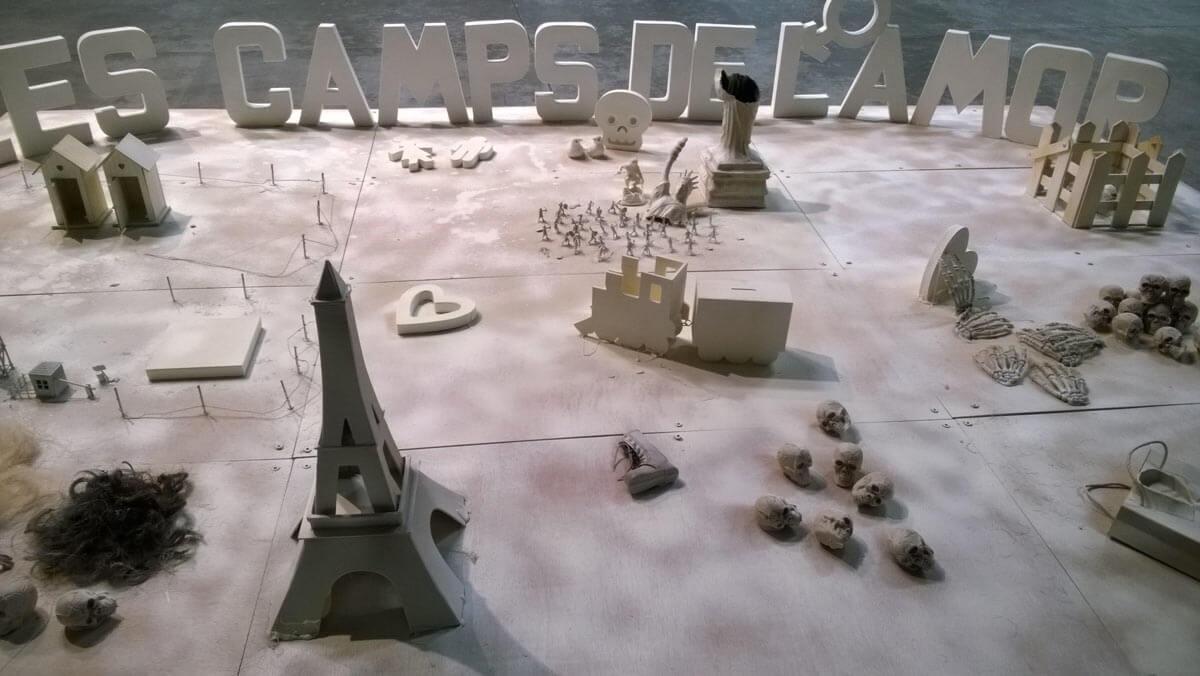 """""""Les Camps de l'Amor"""" de David Noir au Générateur   Maquette des camps   Photo © David Noir"""