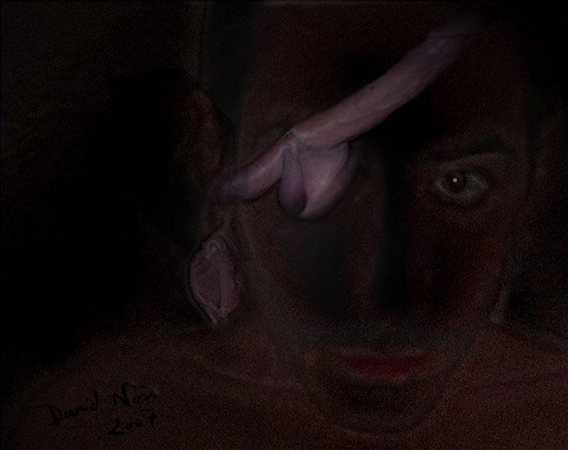 Artiste, comme un loup-garou noir au regard demi-bandé de sexes, comme un pirate brûlé au visage de pain trop cuit | Visuel © David Noir 2007