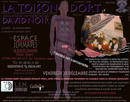 La Toison Dort | Épisode 3 | J'avais un camarade | Visuel © David Noir