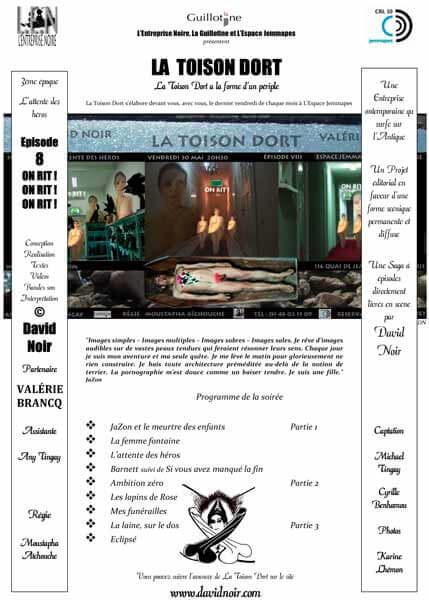 Programme de salle | Espace Jemmapes | La Toison Dort | Épisode 8 | Images d'une relation: On rit ! On rit ! On rit ! | Visuel © David Noir