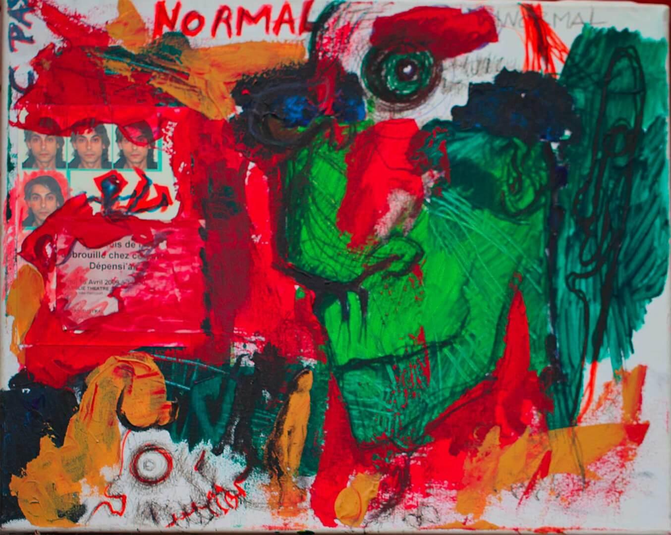 C'est pas normal © David Noir | Dessins, peintures, collages