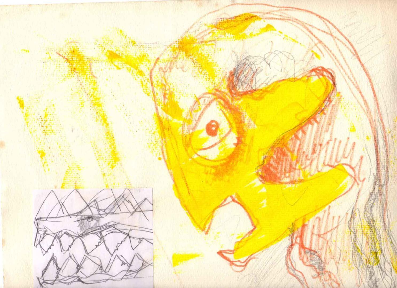 Gary dans le doute © David Noir | Dessins, peintures, collages