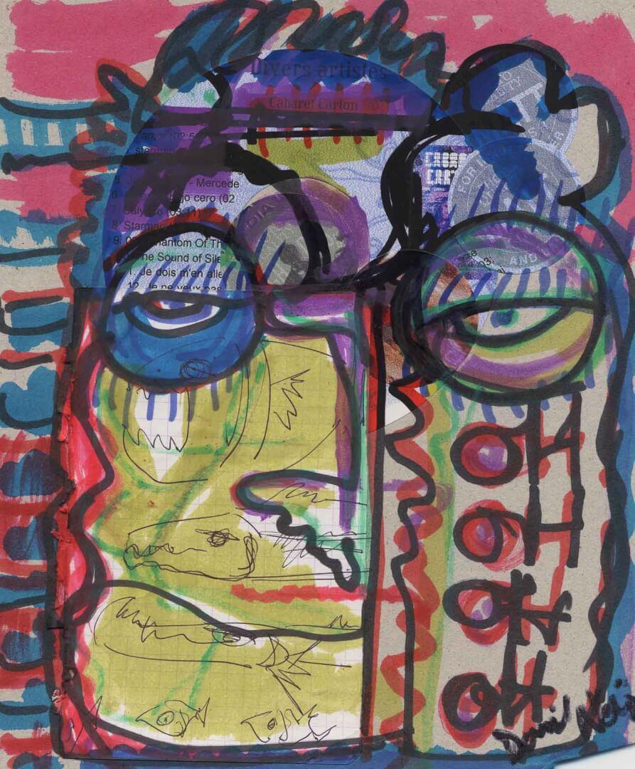 Herald à la fête © David Noir | Dessins, peintures, collages