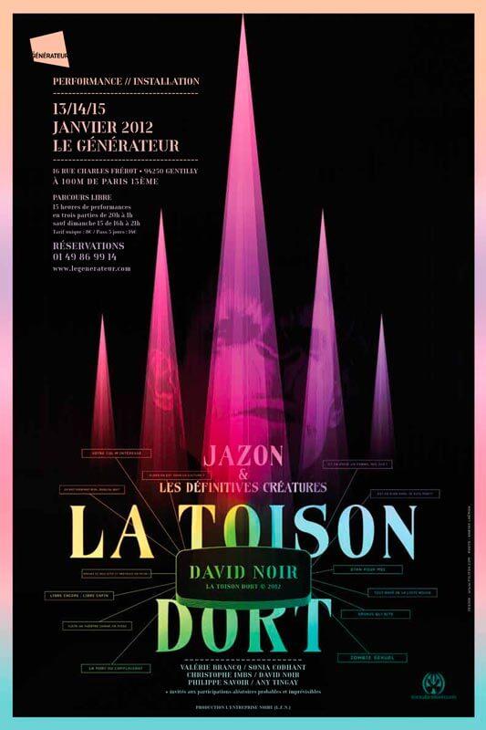La Toison dort au Générateur | David Noir | Graphisme © Philippe Savoir