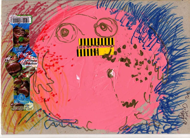 La boule rose © David Noir | Dessins, peintures, collages