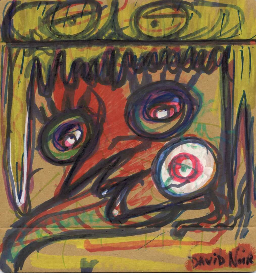 Acteur imbécile © David Noir | Dessins, peintures, collages