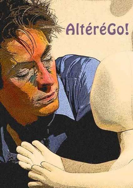 AltereGo! | Moi et mon compagnon l'enfant sans visage | Visuel © David Noir d'après photo © Karine Lhémon