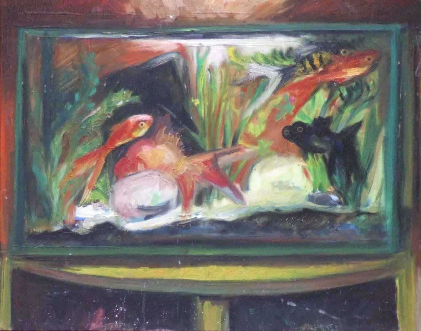 Aquarium © David Noir | Dessins, peintures, collages