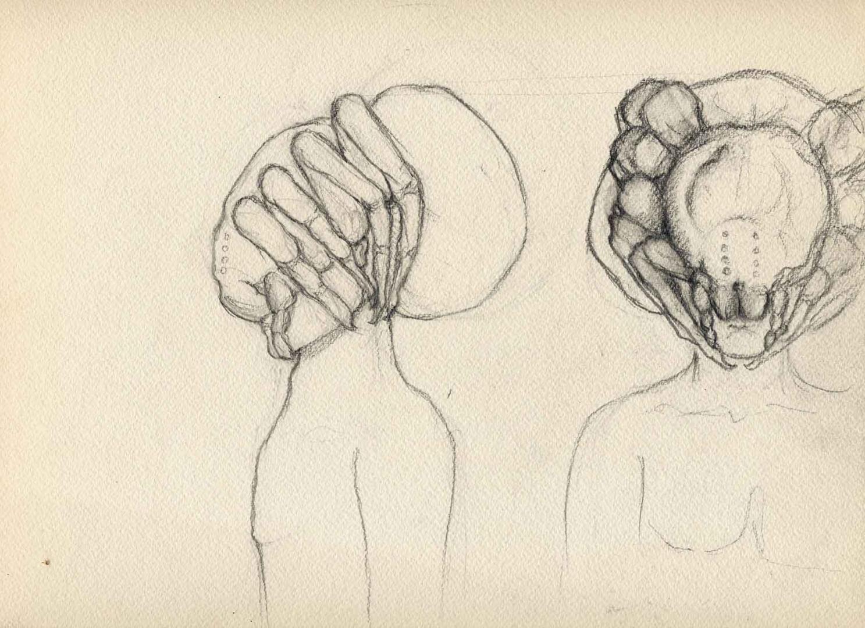 Masque d'araignée © David Noir | Dessins, peintures, collages