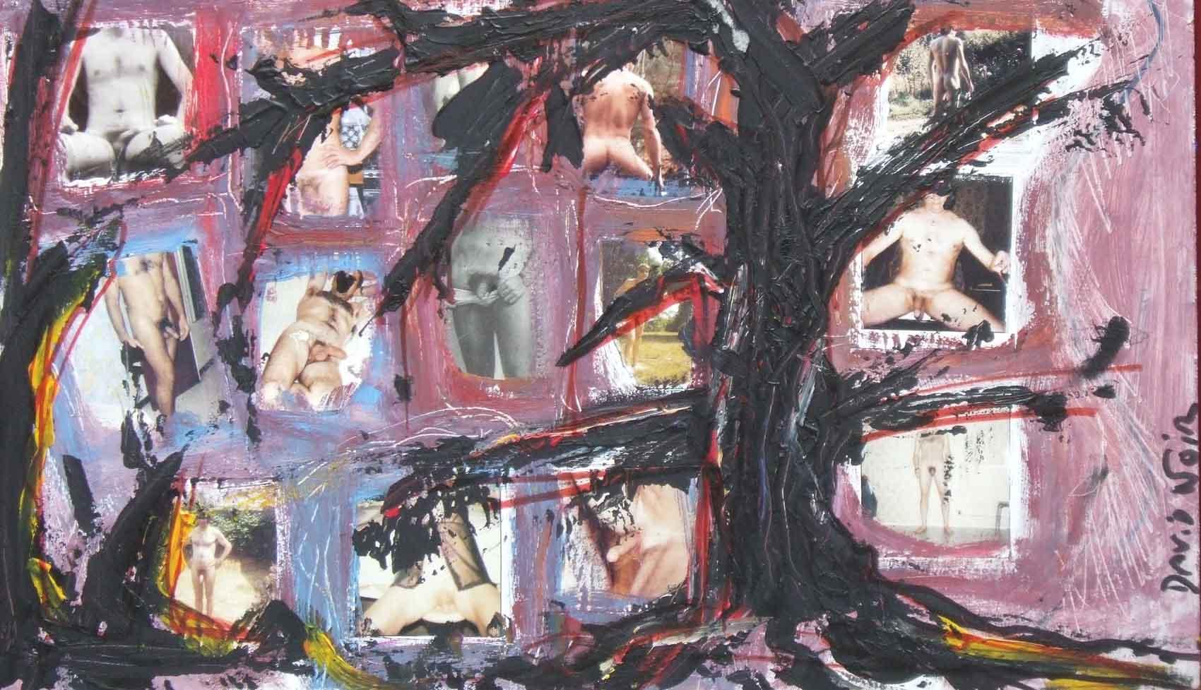 Arbre à bites © David Noir | Dessins, peintures, collages