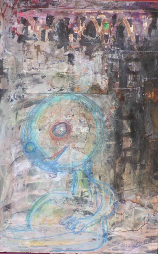 Au pied © David Noir | Dessins, peintures, collages