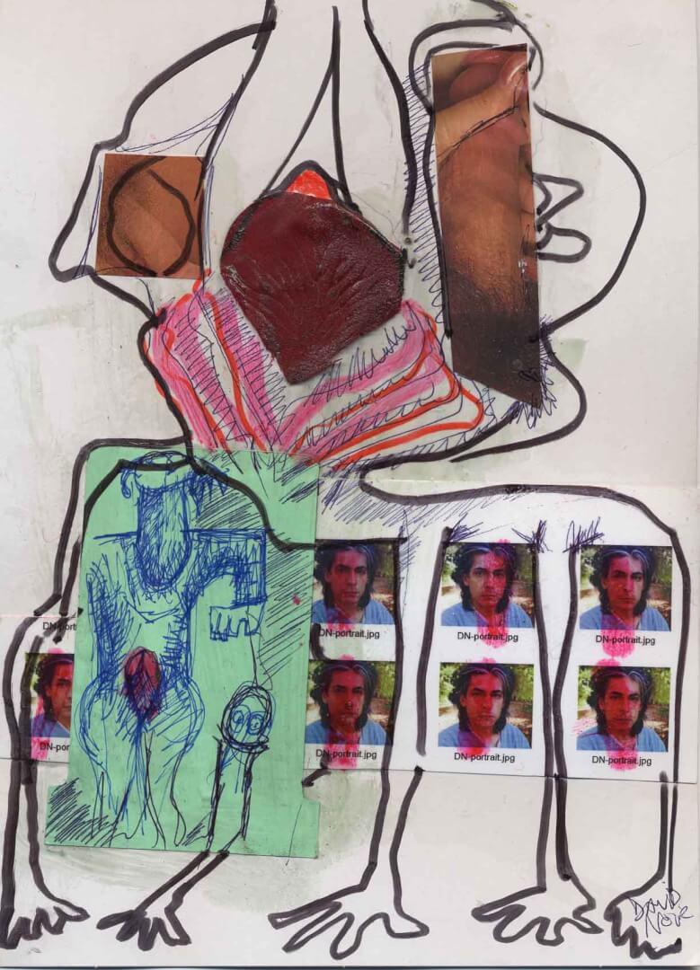 Aveugle aimant © David Noir | Dessins, peintures, collages