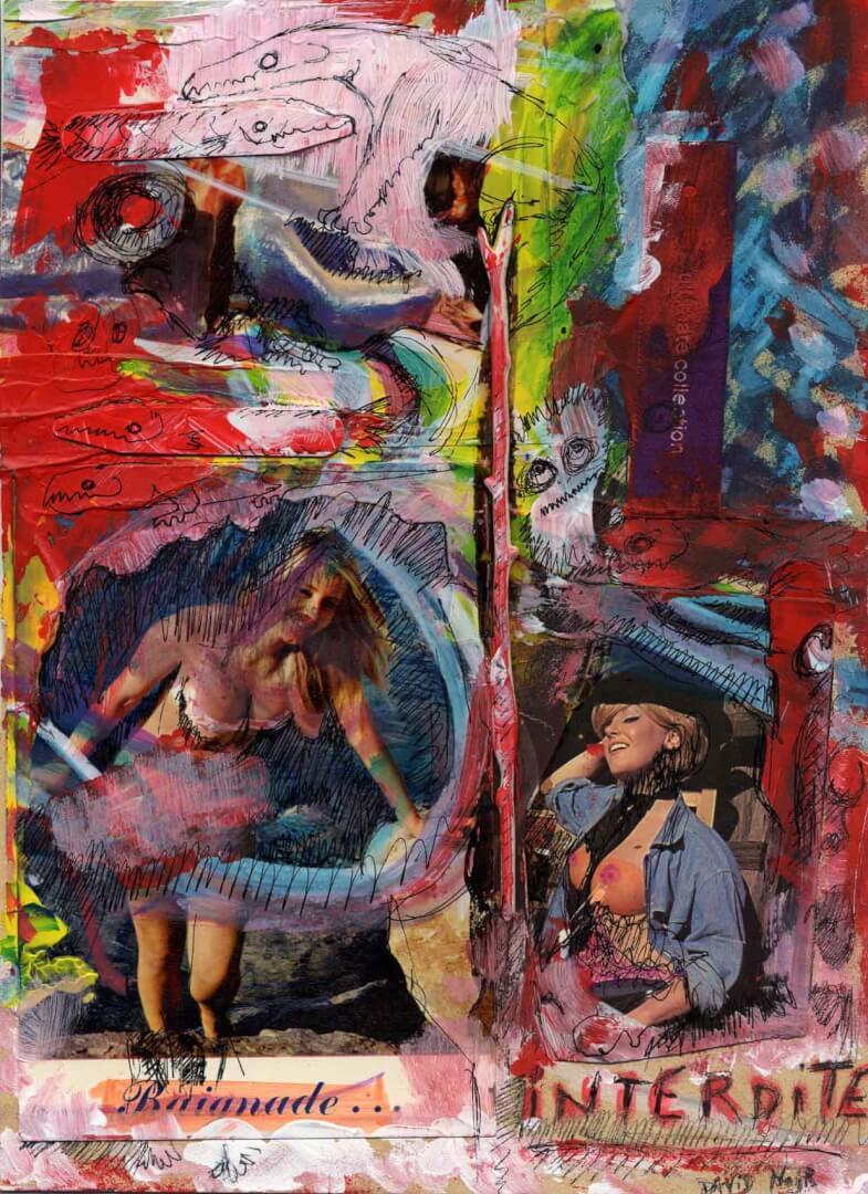 Baignade interdite © David Noir | Dessins, peintures, collages