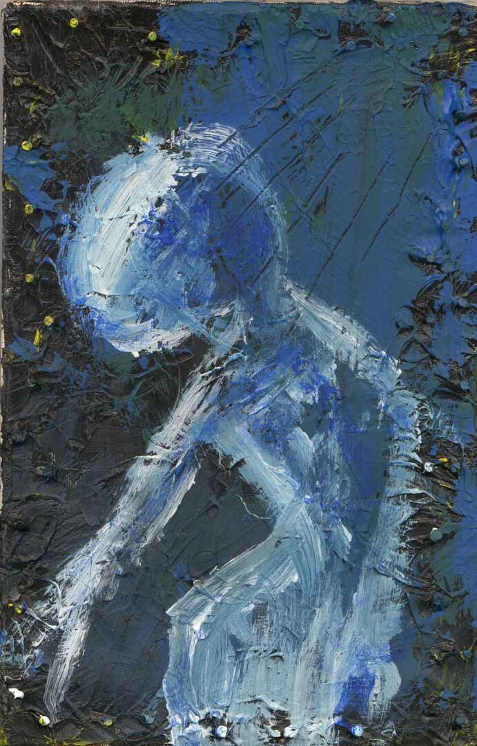 Bain de lune © David Noir | Dessins, peintures, collages