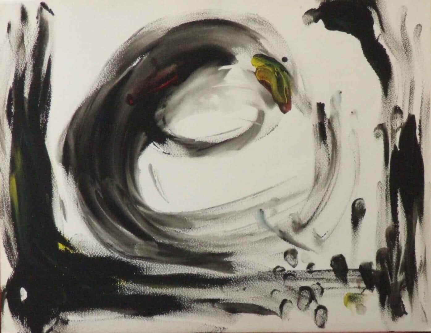 Bonhomme 2 © David Noir | Dessins, peintures, collages