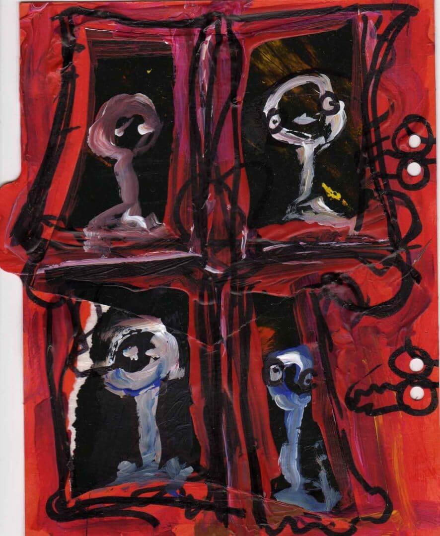 Chacun sa fenêtre © David Noir | Dessins, peintures, collages