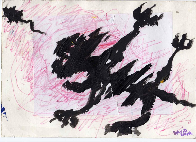 Chat m'énerve © David Noir | Dessins, peintures, collages
