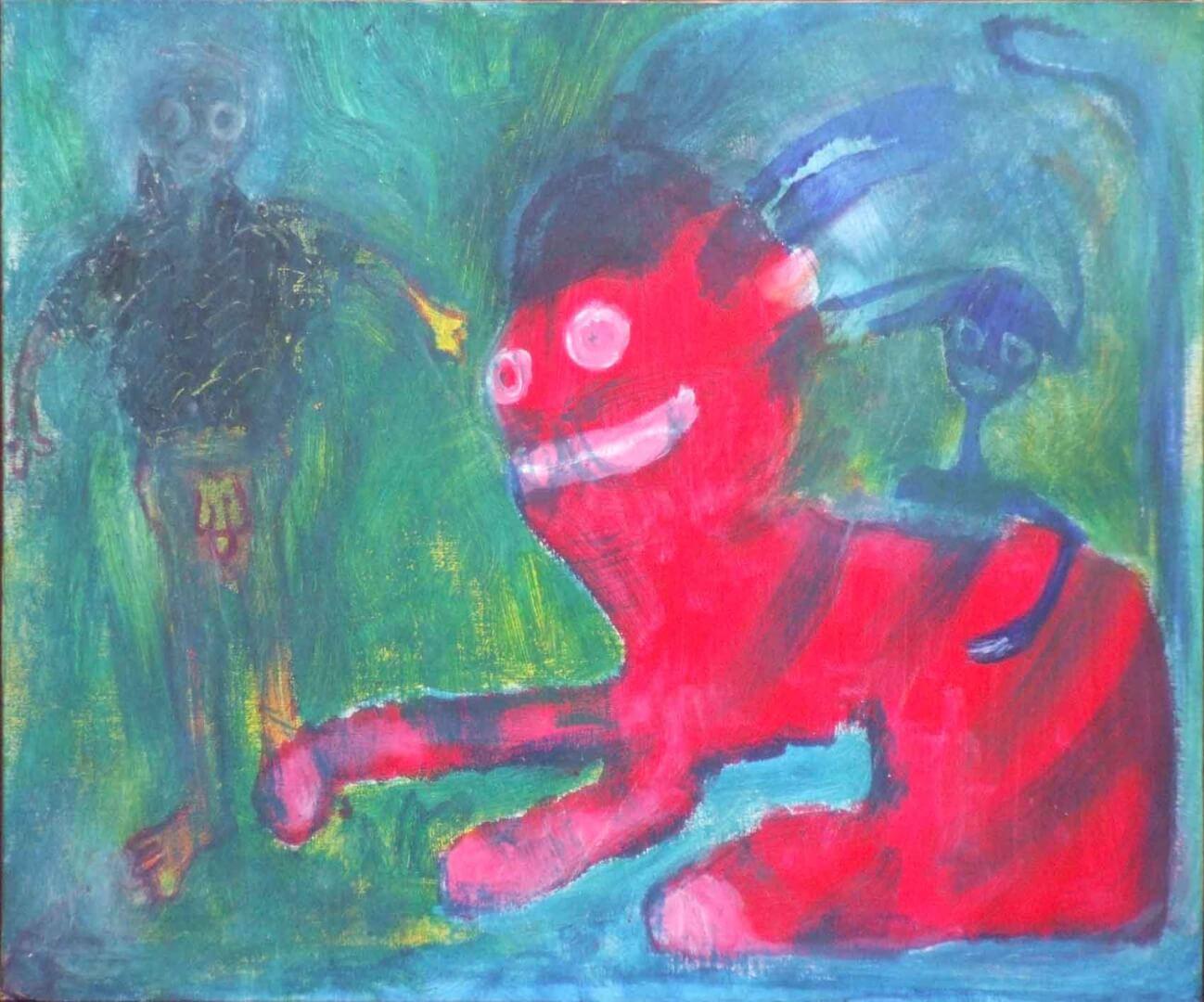 Chat et morts-vivants © David Noir | Dessins, peintures, collages
