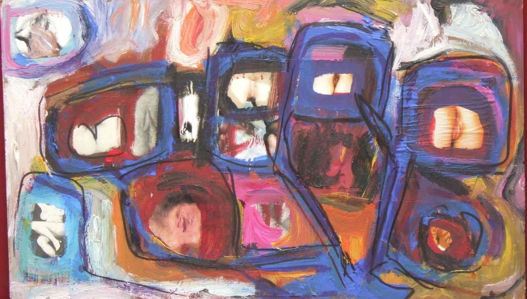 Chatte en bouche un coin © David Noir | Dessins, peintures, collages