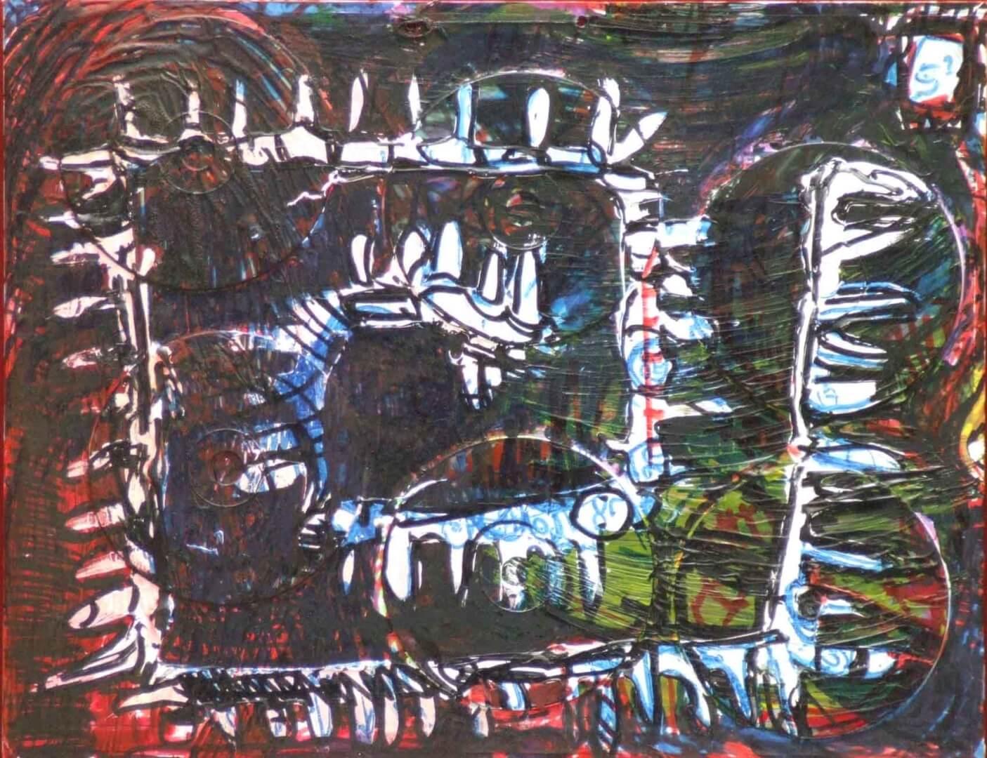 Chemin de cd © David Noir | Dessins, peintures, collages