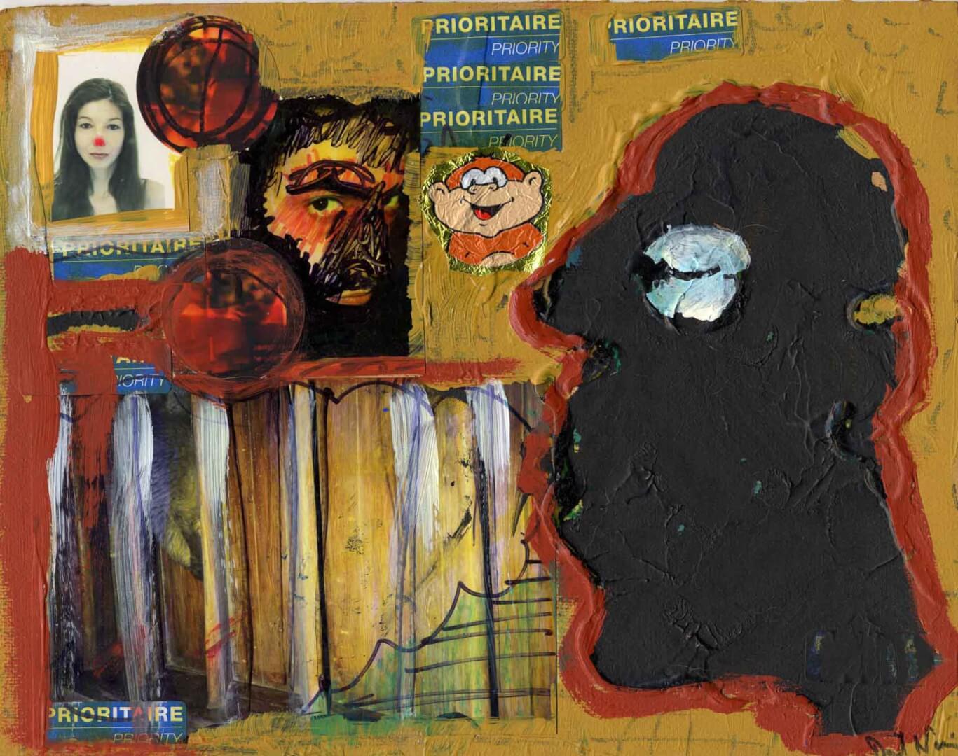 Collage noir © David Noir | Dessins, peintures, collages