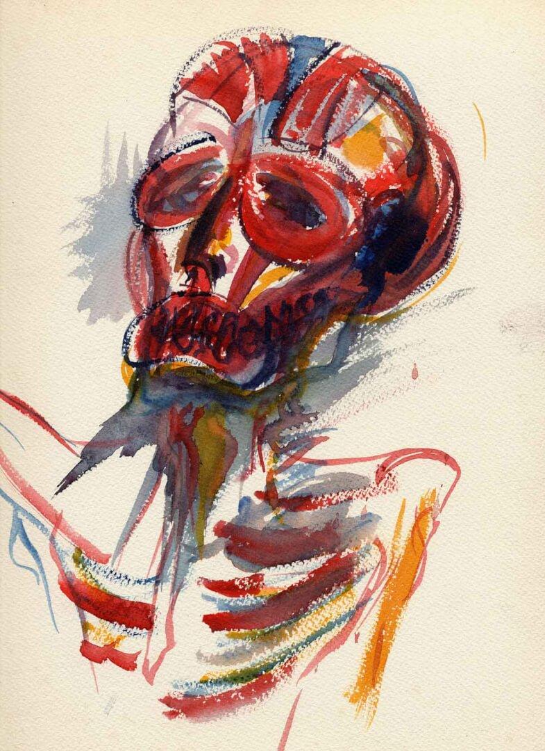 Écorché © David Noir | Dessins, peintures, collages