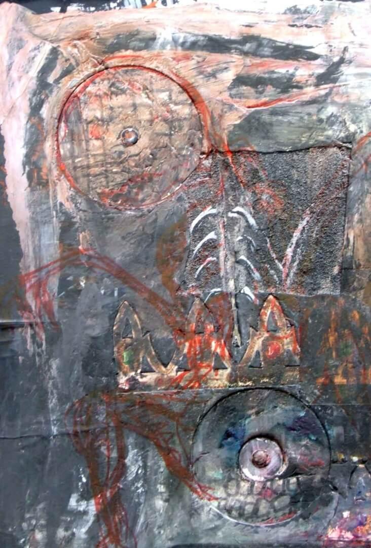 Dans mes bras © David Noir | Dessins, peintures, collages