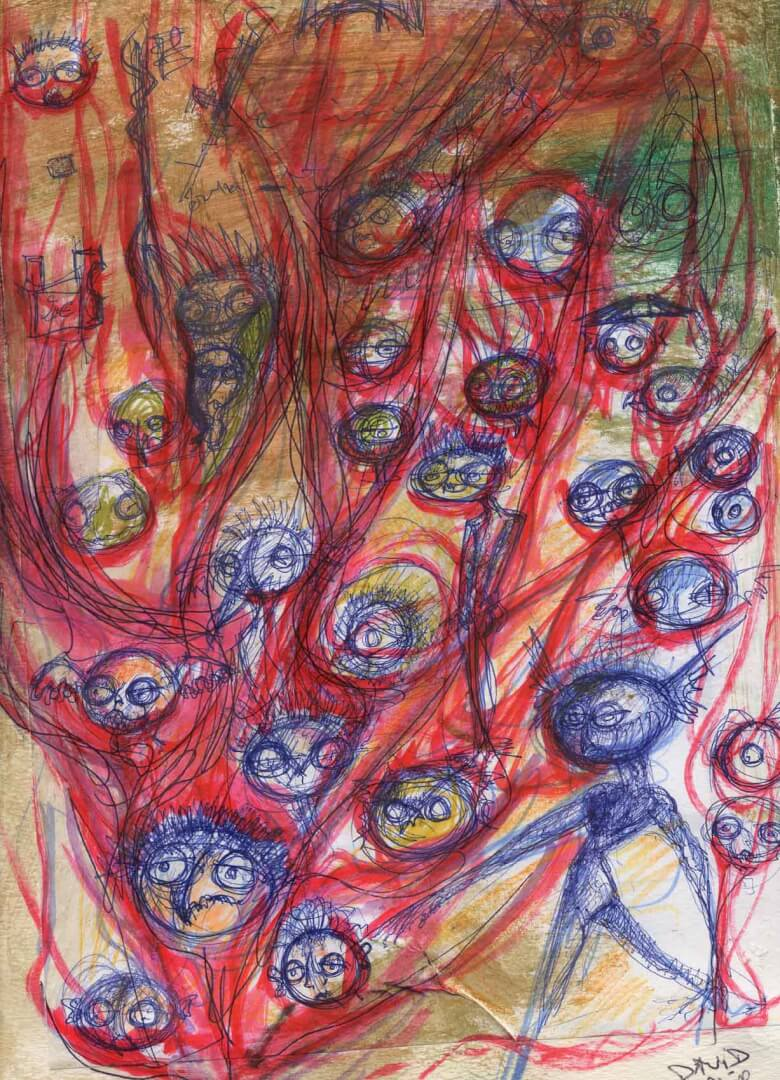 D'enfer © David Noir | Dessins, peintures, collages