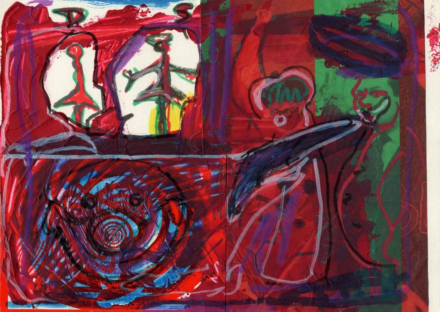 Des chinois © David Noir | Dessins, peintures, collages