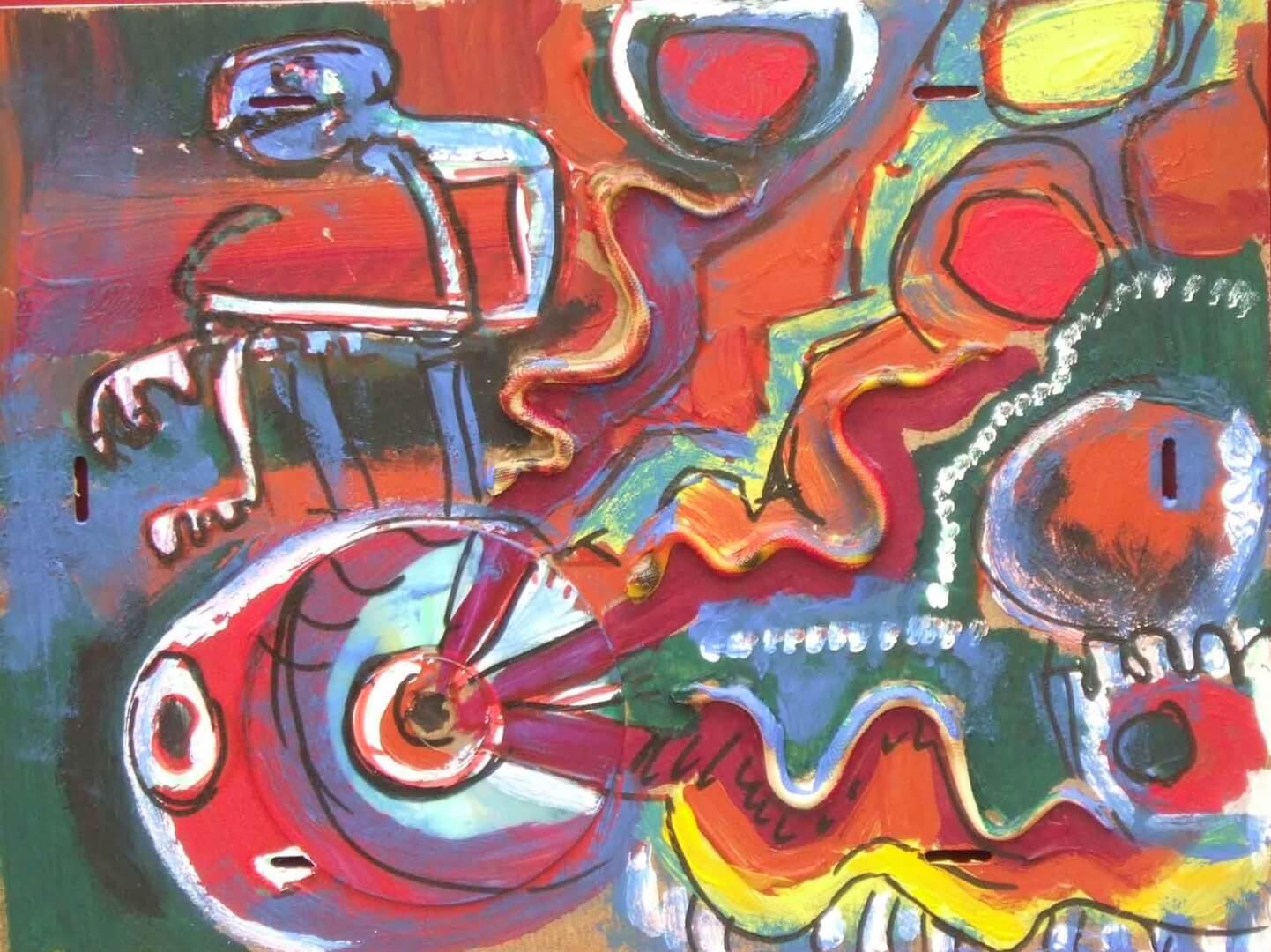 En roue libre © David Noir | Dessins, peintures, collages