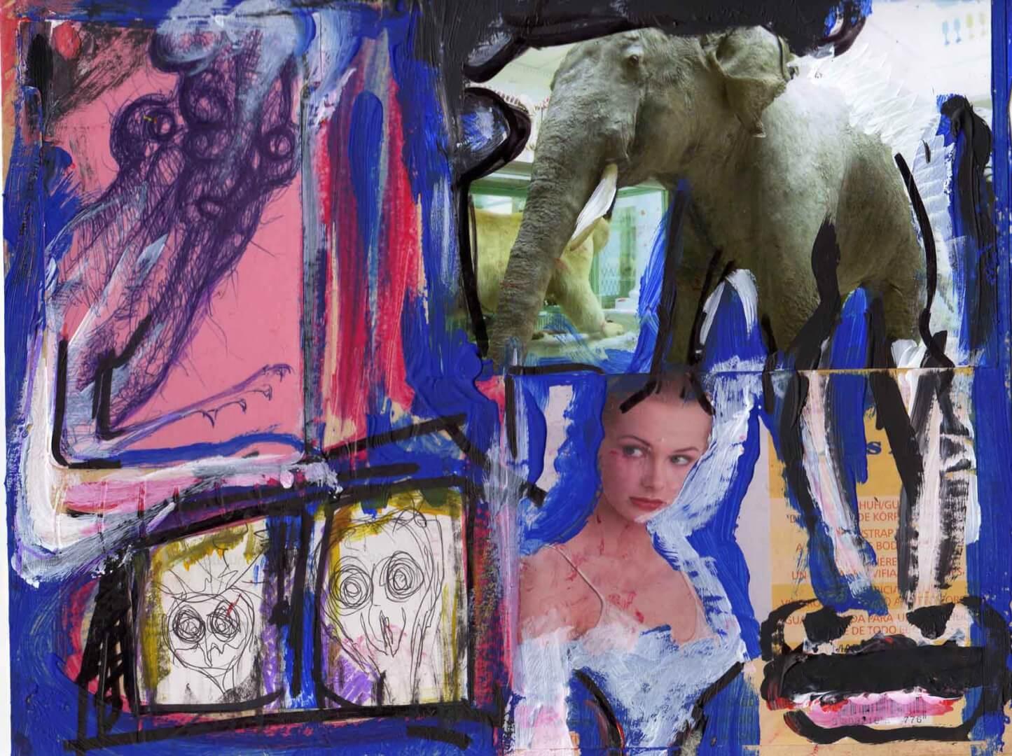 En visite © David Noir | Dessins, peintures, collages