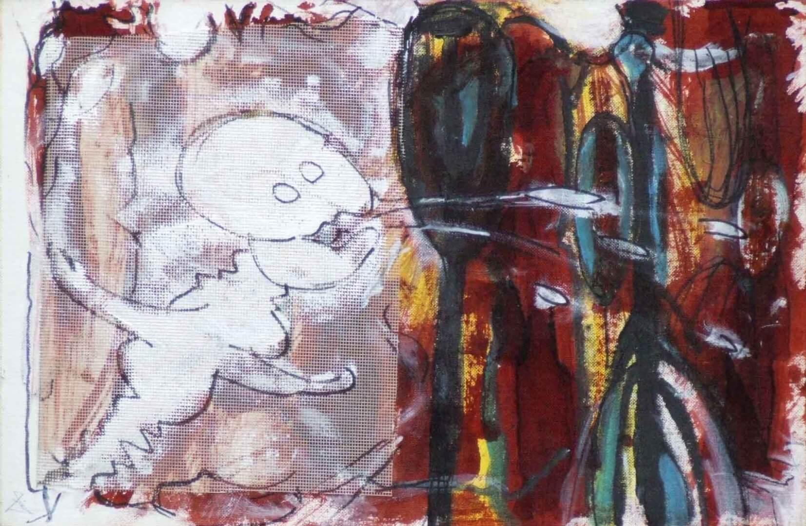 Fantôme qui crache © David Noir | Dessins, peintures, collages