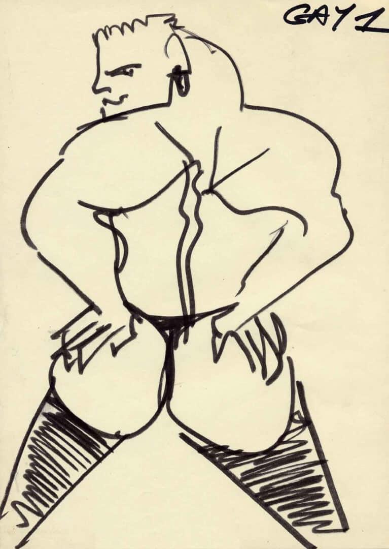 Gay 1 © David Noir | Dessins, peintures, collages