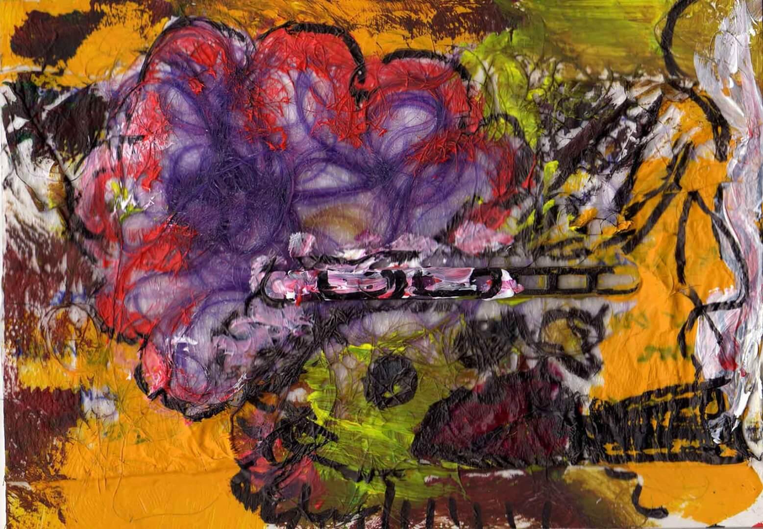 Grosse fumeuse © David Noir | Dessins, peintures, collages