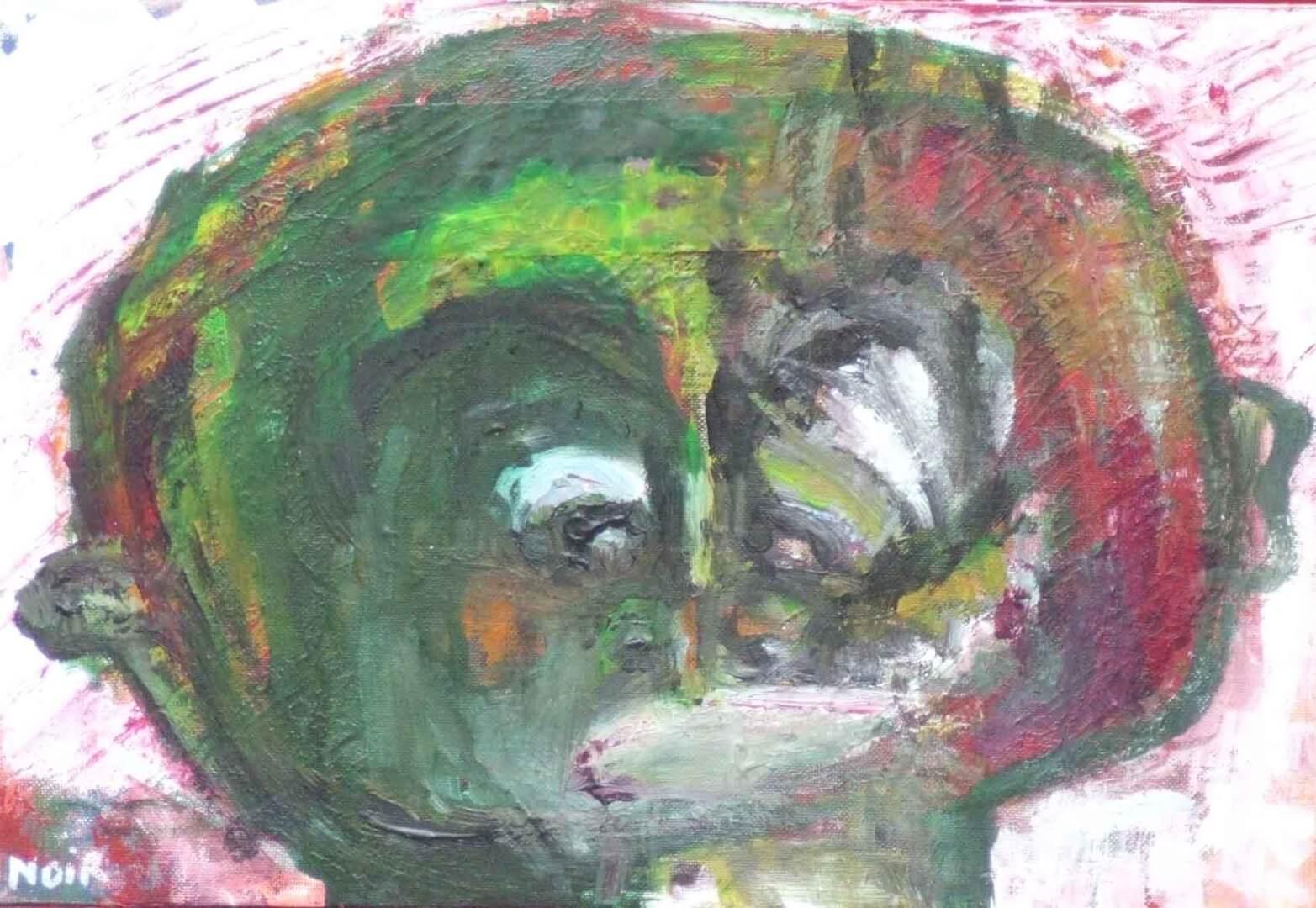 Grosse tête © David Noir | Dessins, peintures, collages