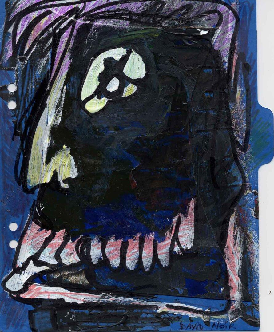 Idiot 2 © David Noir | Dessins, peintures, collages