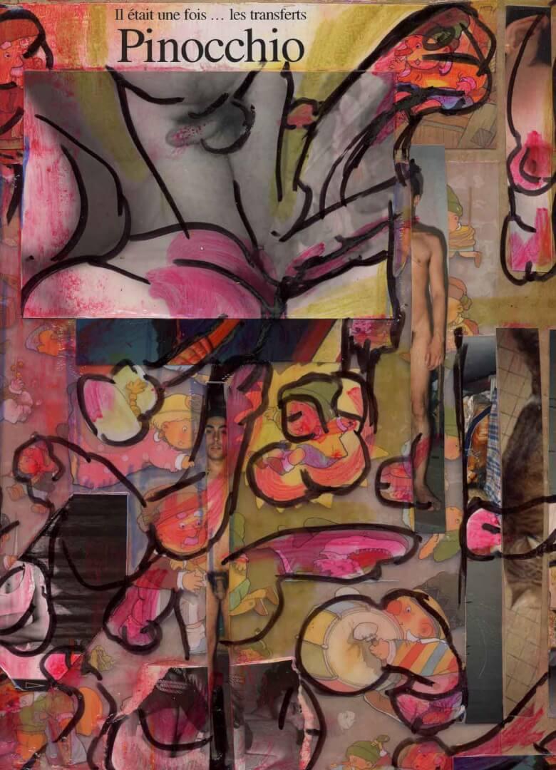 Il était une fois ... les transferts © David Noir | Dessins, peintures, collages