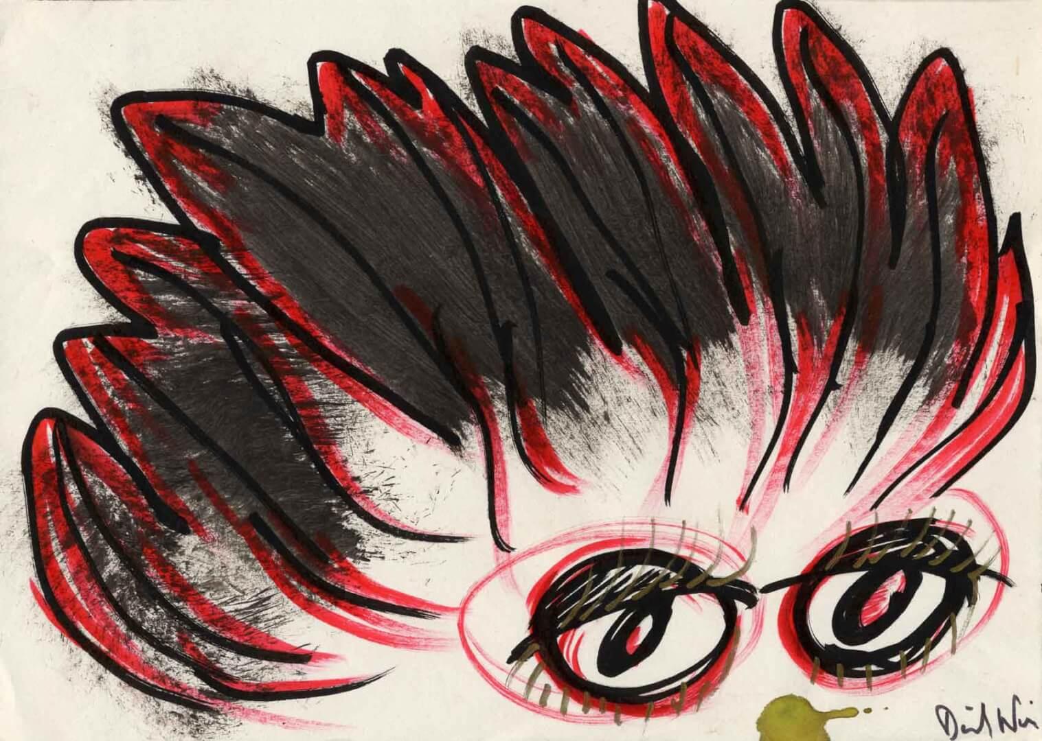 Indien à plumes © David Noir | Dessins, peintures, collages