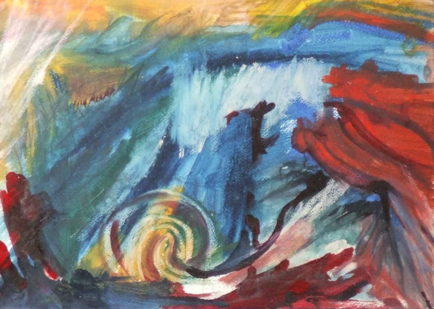 La mer en vrac © David Noir | Dessins, peintures, collages