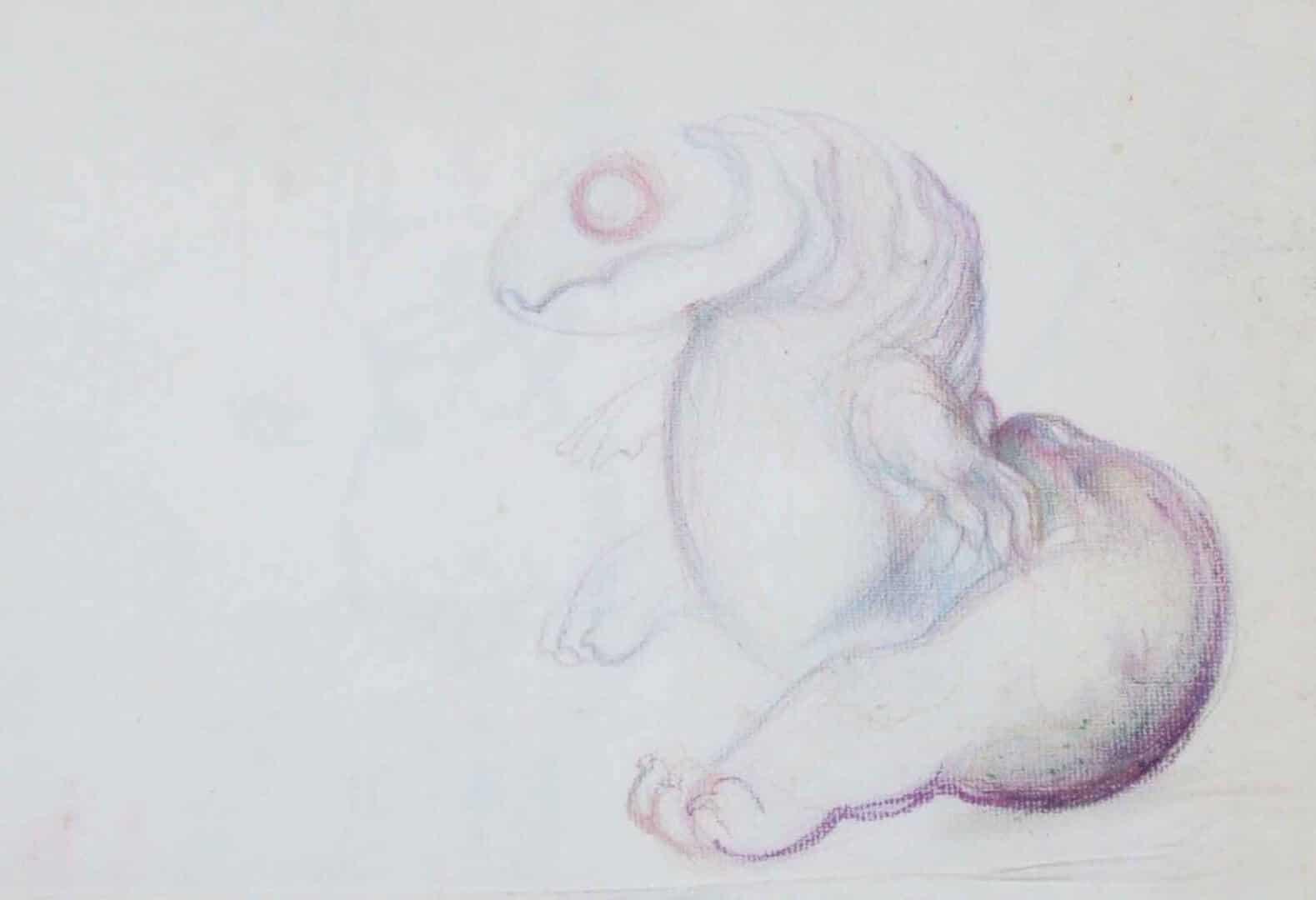 Larve au repos © David Noir | Dessins, peintures, collages