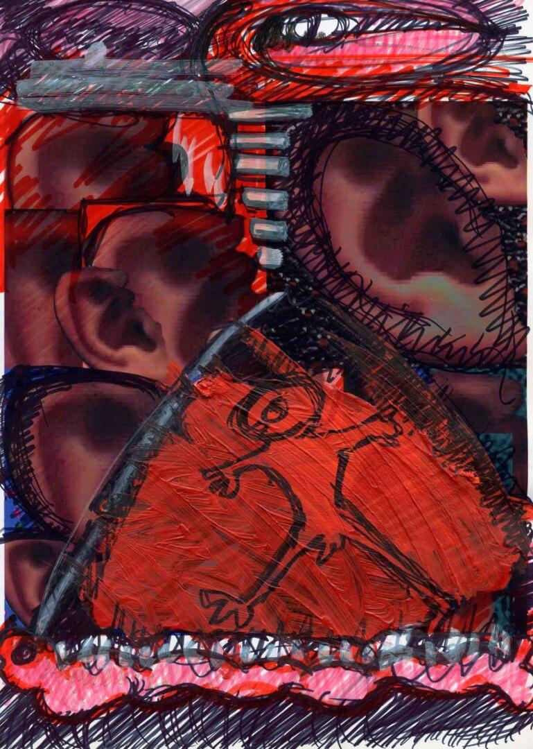 La tente © David Noir | Dessins, peintures, collages