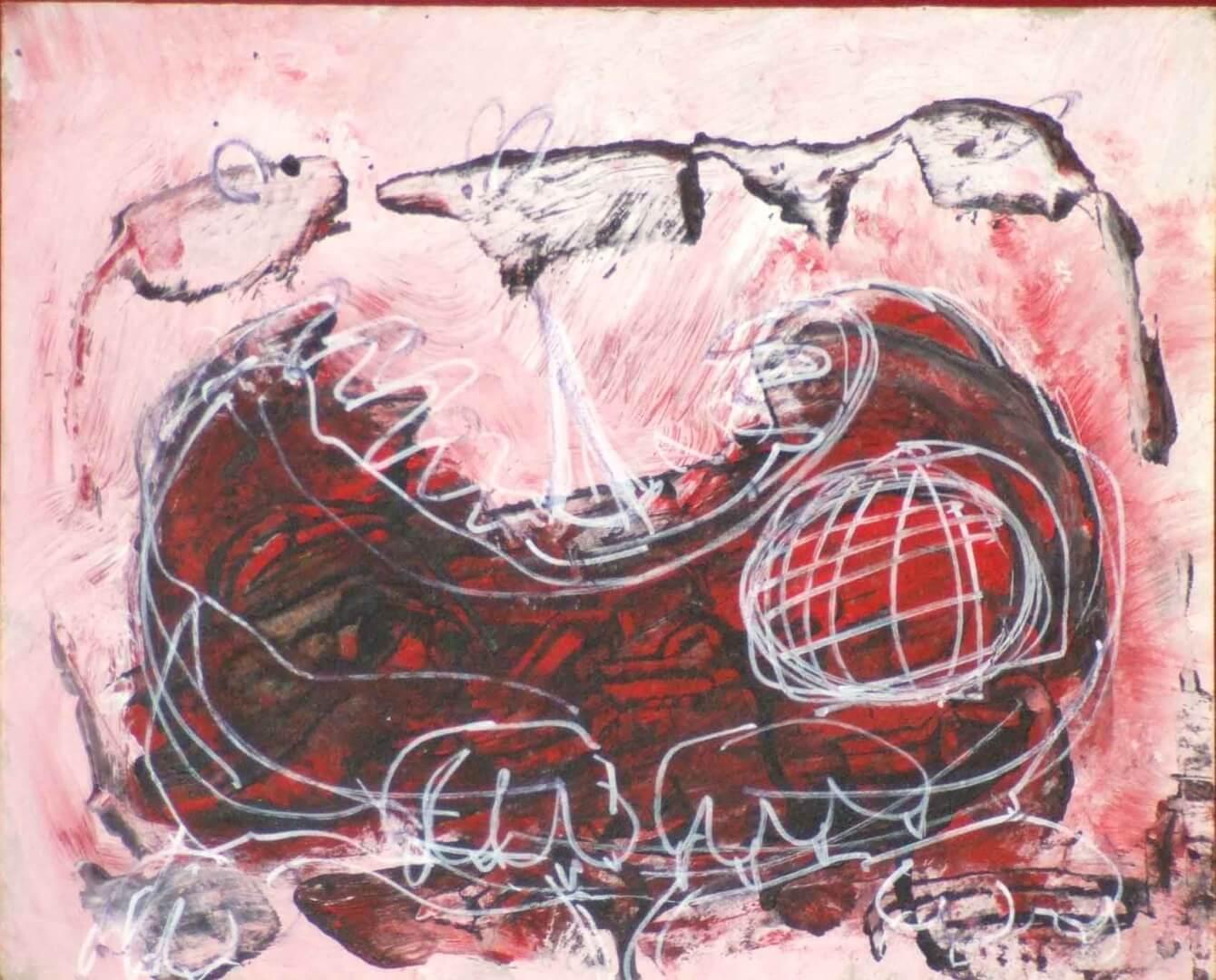 Le chat hait les souris © David Noir | Dessins, peintures, collages
