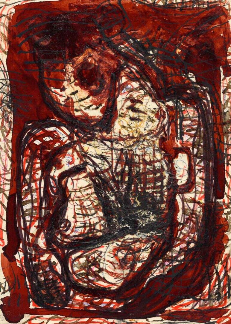 Madone aux bras courts © David Noir | Dessins, peintures, collages