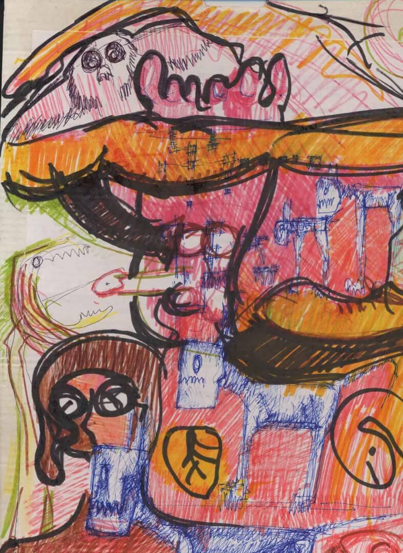 Maîtresse décalée © David Noir | Dessins, peintures, collages