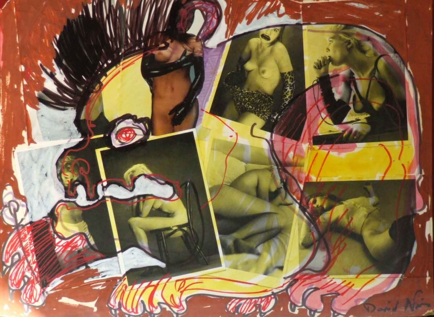Mangeur de filles © David Noir | Dessins, peintures, collages