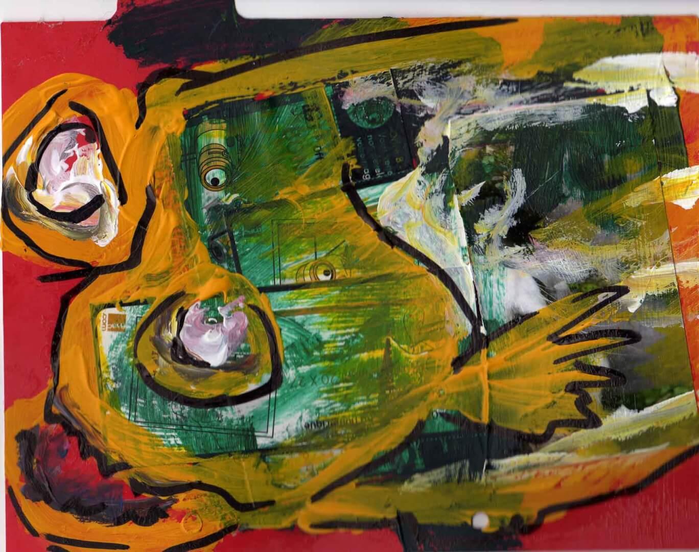Mérou © David Noir | Dessins, peintures, collages