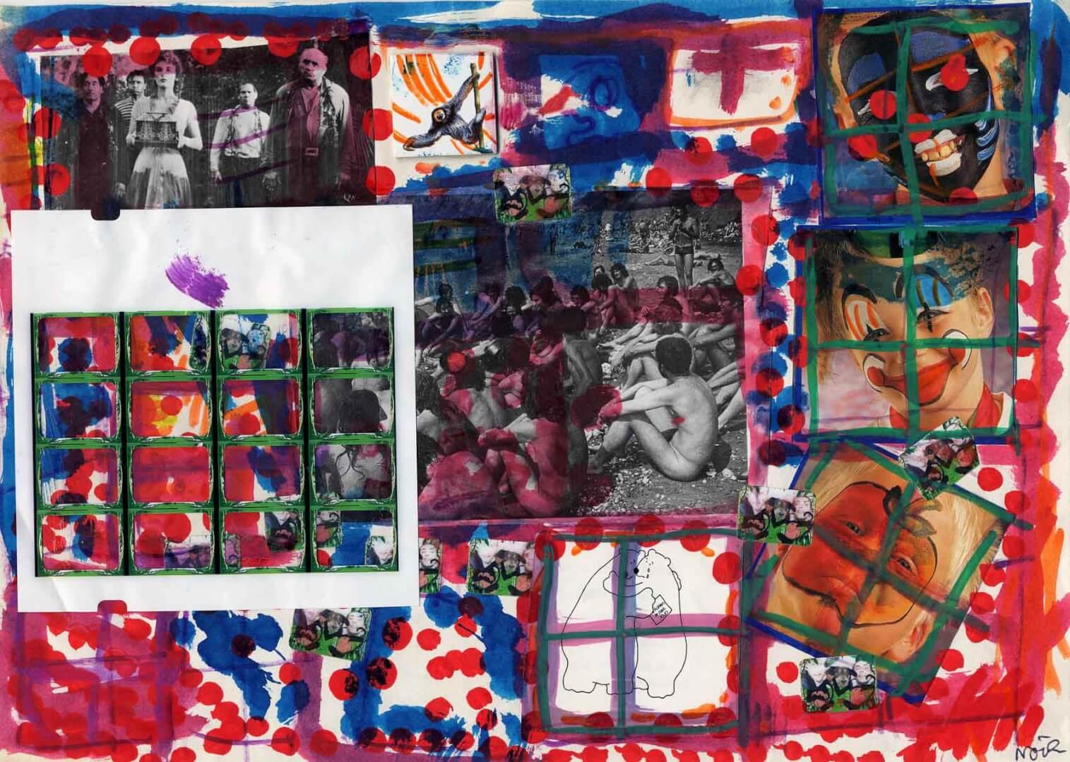 Morts et vivants © David Noir | Dessins, peintures, collages