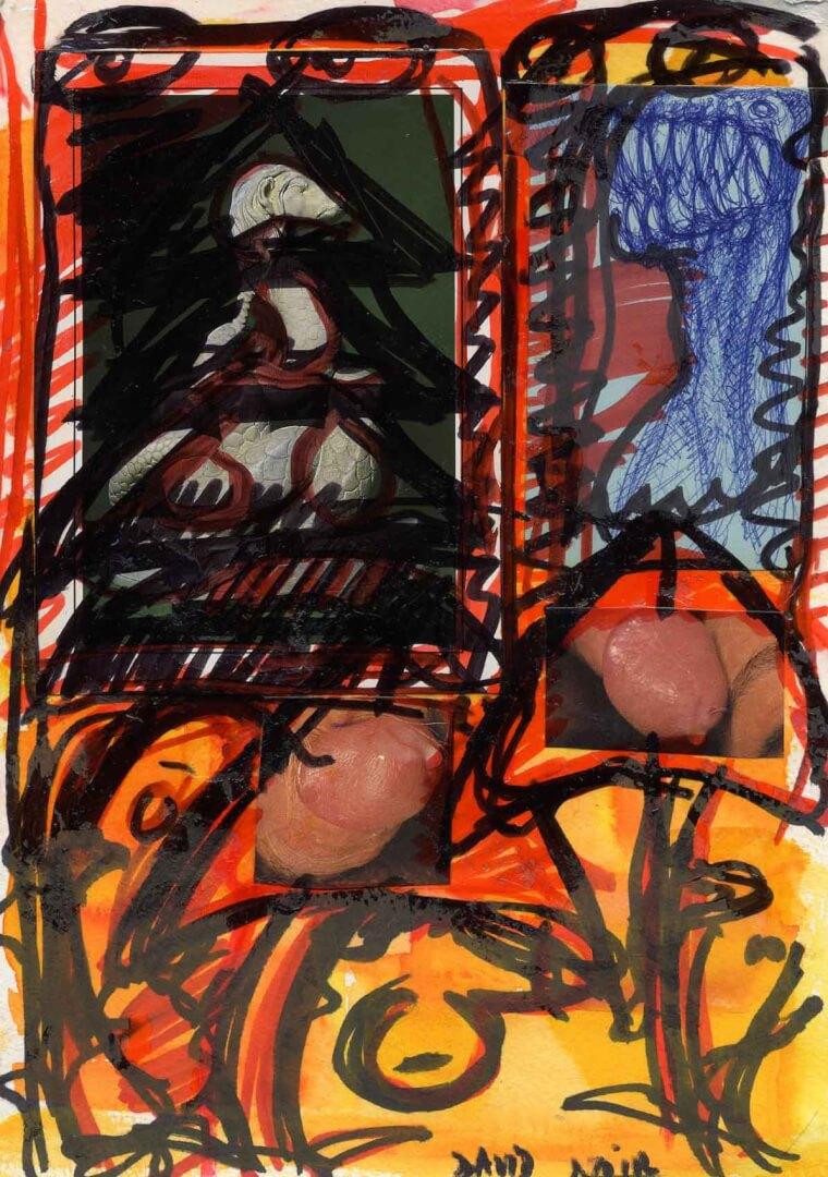 Nœuds © David Noir | Dessins, peintures, collages